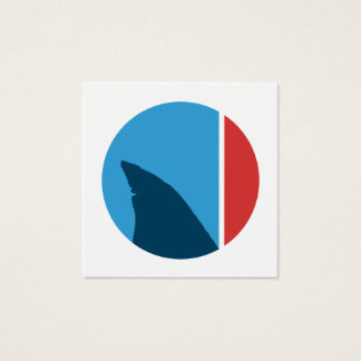 shark fin circle square business card