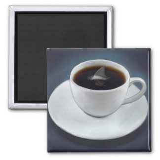 Shark Fin Coffee Magnet