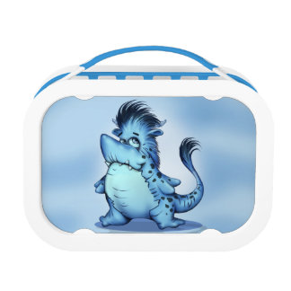 SHARK FISH CARTOON LUNCH BOX Monster Blue