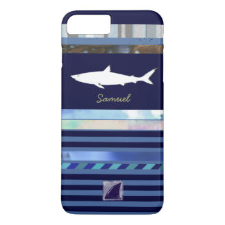 shark fish king of the ocean blue-color iPhone 7 plus case