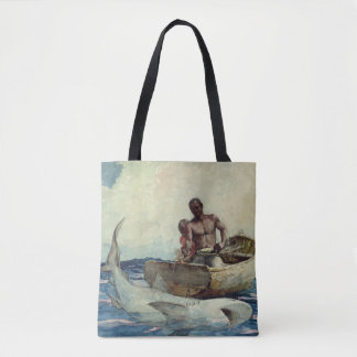 Shark Fishing - Homer Winslow 1885 Tote Bag