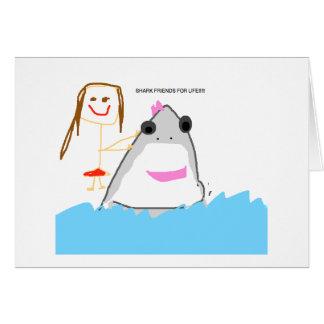 shark friends card