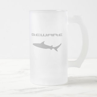 Shark Frosted Glass Beer Mug