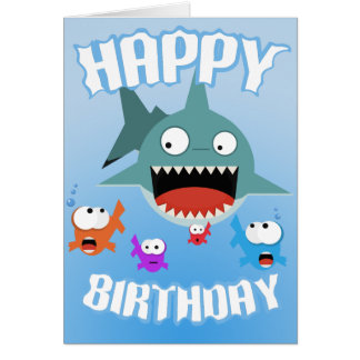 Shark Fun Birthday Card