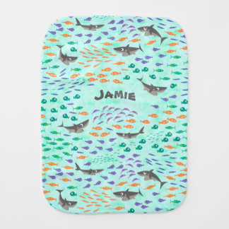Shark Fun Burp Cloth