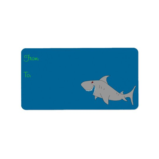 Shark Gift Label