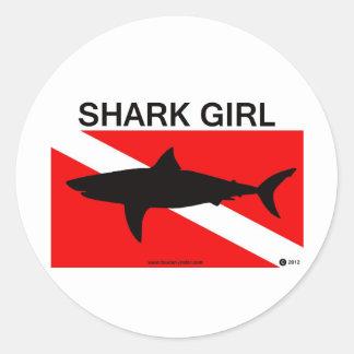 Shark Girl sticker