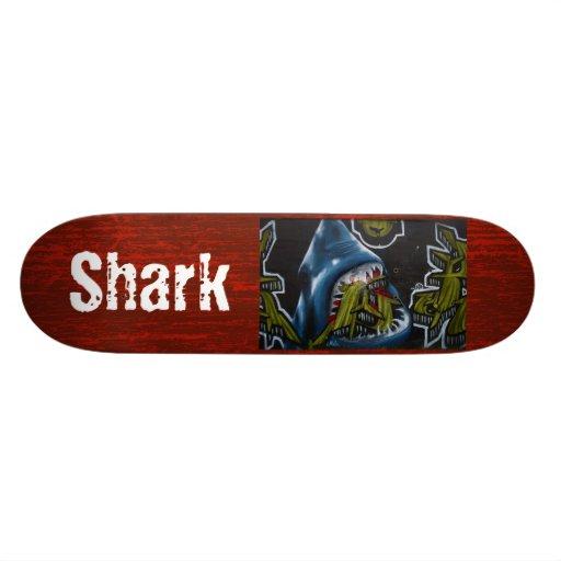 Shark Graffiti Skateboard