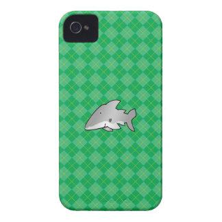 Shark green argyle pattern Case-Mate iPhone 4 cases