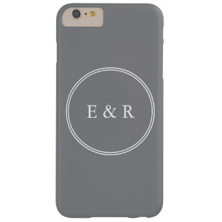 Shark Grey with White Wedding Detail Barely There iPhone 6 Plus Case