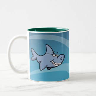 Shark Grin Two-Tone Coffee Mug