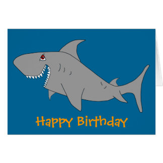Shark Happy Birthday Card