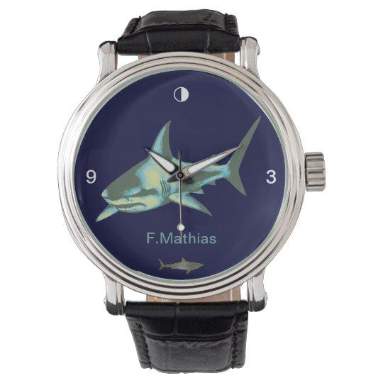 shark hour wristwatch