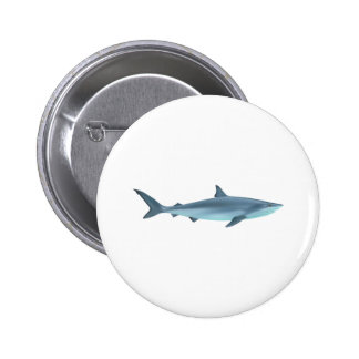 Shark Illustration 2 Inch Round Button