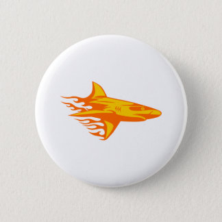 Shark in Flames 2 Inch Round Button