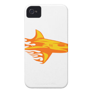 Shark in Flames iPhone 4 Covers