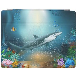 Shark In Ocean iPad Cover