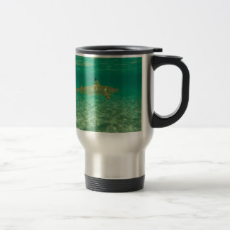 Shark in will bora will bora travel mug