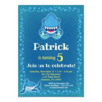 Shark Invitation Boys Birthday Party Aquarium
