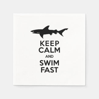 Shark - Keep Calm and Swim Fast Disposable Napkins