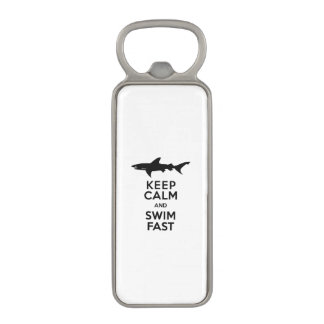 Shark - Keep Calm and Swim Fast Magnetic Bottle Opener
