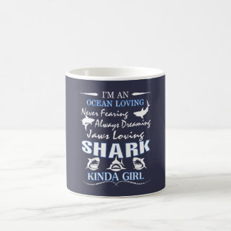 SHARK KINDA GIRL COFFEE MUG