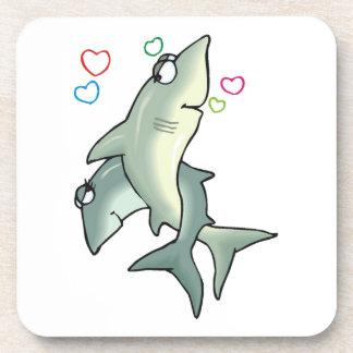 Shark Love Coaster