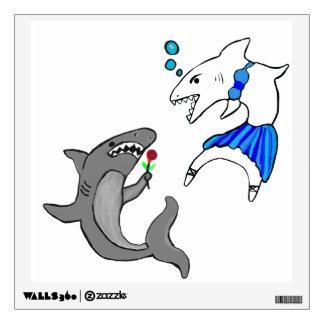 Shark Love Wall Sticker