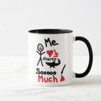 Shark Lover Cartoon Mug