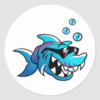 Shark, Meet Me at the Beach, Funny, Round Sticker