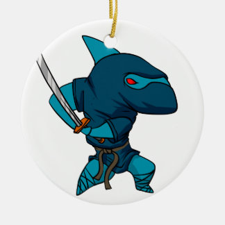 Shark ninja ceramic ornament