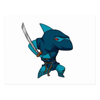 Shark ninja postcard