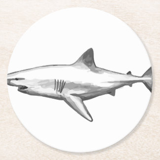 Shark Office Home Personalize Destiny Destiny'S Round Paper Coaster