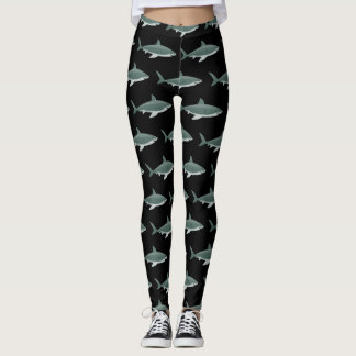 Shark pattern image on Women's Leggings