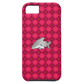 Shark pink argyle pattern iPhone 5 case