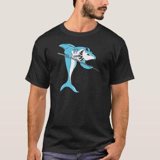 Shark Playing Billiards T-Shirt