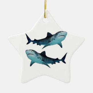 Shark Rally Ceramic Star Ornament