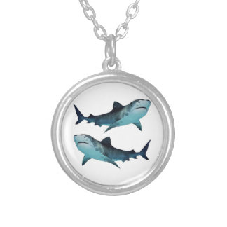 Shark Rally Silver Plated Necklace
