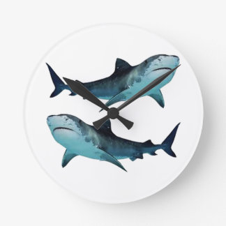 Shark Rally Wall Clock