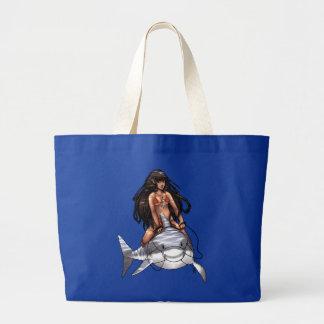 Shark Rider Tote Jumbo Tote Bag