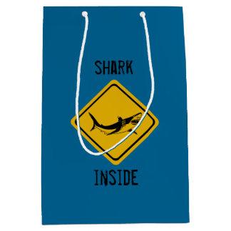 shark road sign medium gift bag