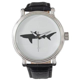 Shark silhouette watch