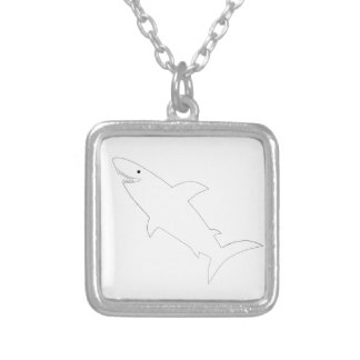 Shark! Silver Plated Necklace