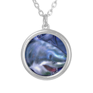 Shark Silver Plated Necklace