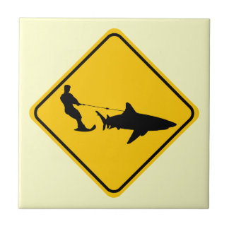 Shark Skiing Tile