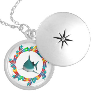 Shark Stars Silver Plated Necklace