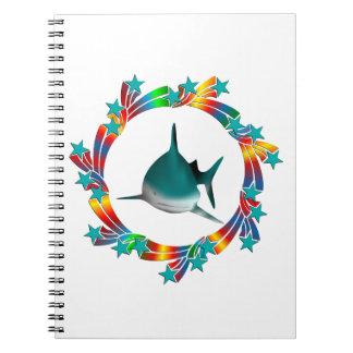 Shark Stars Spiral Notebook