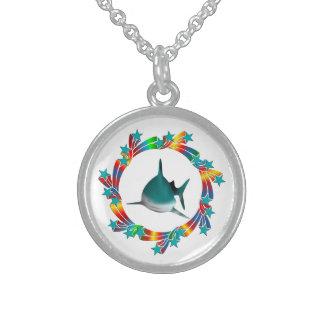 Shark Stars Sterling Silver Necklace