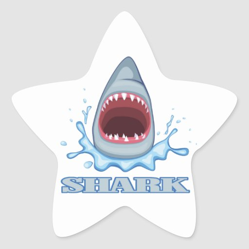 Shark Star Stickers