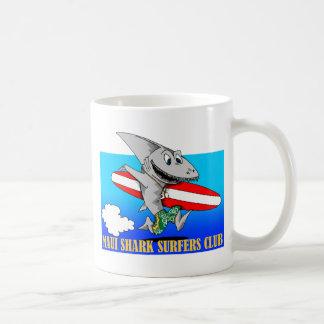 Shark Surfers Classic White Coffee Mug